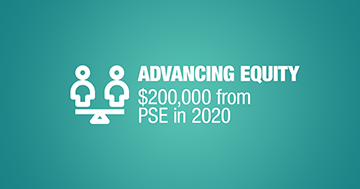 Advancing Equity $200,000 from PSE in 2020