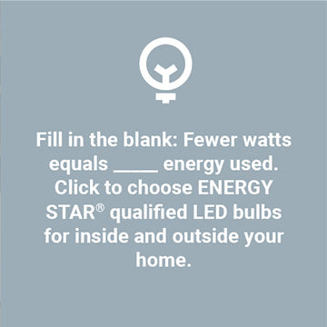 ENERGY STAR® qualified LED bulbs