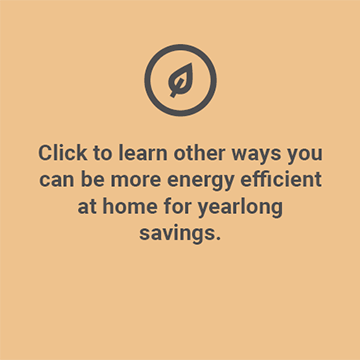 Be more energy efficient at home