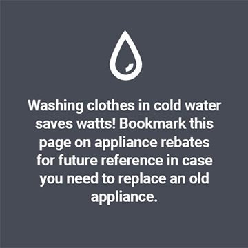 Washing clothes in cold water saves watts