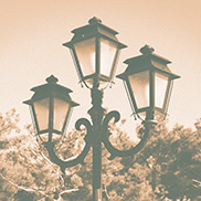 Gas lamp photo